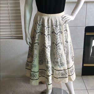 """Hazel 31"""" Boho Skirt from Anthropologie Size M"""